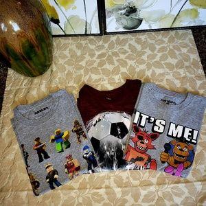 Lot of 3 Boys M short-sleeve t-shirt $9